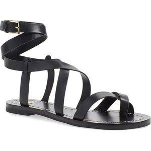 Tory Burch Black Patos Gladiator Sandal Size 8